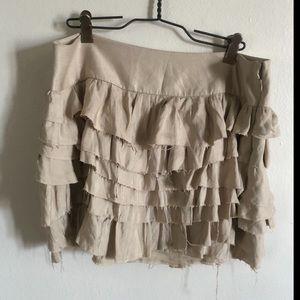 Express frayed ruffle skirt